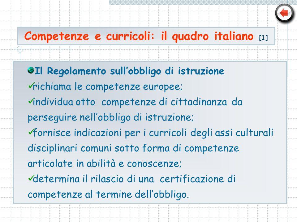 Competenze e curricoli: il quadro italiano [1]